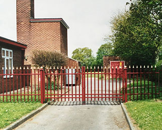 Traditional style infants school gates in Warrington