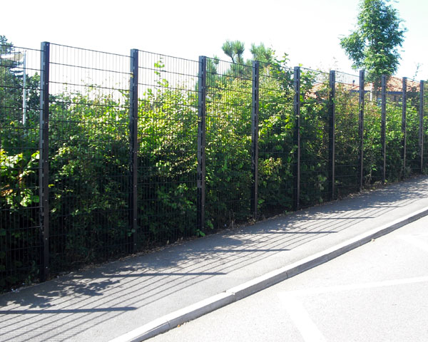Civic school boundary fence