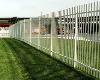 2m high divisional showground palisade fence