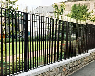 Railings with regency bar finials at Corry Square, Ireland
